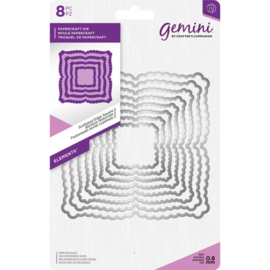 Gemini Elements - Scalloped Edge Square 2 (Geschulpte rand vierkant 2)