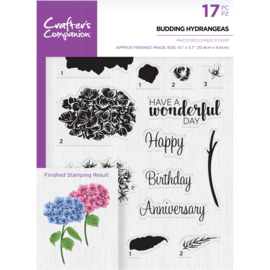 Crafter's Companion A5  clearstamp - Budding Hydrangeas