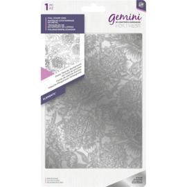 Gemini Folie Stamp mal - Elementen - Pretty Peonies (Prachtige Pioenrozen) Achtergrond