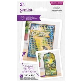 Gemini Create-a-Card - Aged Argyle