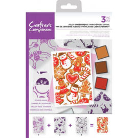 Crafter's Companion Background Layering Clearstamps - Jolly Gingerbread