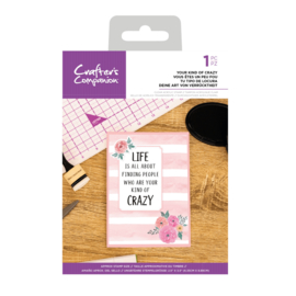 Crafter's Companion Clear stempel - Your Kind of Crazy