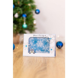 Peek-A-Boo Clearstamp & Snijmal Kerst - Pinguin