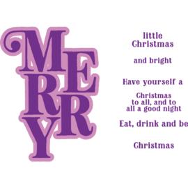 Clearstamp & Snijmal Kerstwoorden - Merry