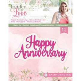 Garden of Love - Metalen snijmal - Happy Anniversary