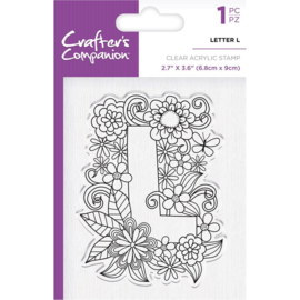 Crafter's Companion Clear stempel alfabet letter L