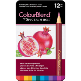 Colourblend Potloden a 12 stuks - Bold Brights (Volle felle kleuren)