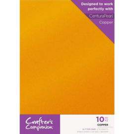 Crafter's Companion Glitter karton A4 a 10 vel - Koper