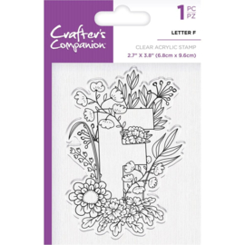 Crafter's Companion Clear stempel alfabet letter F