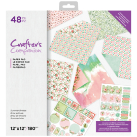 "Crafter's Companion 12""x12"" (30x30 cm) Paperpad - Summer Breeze"