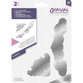 Gemini Folie Stamp mal - Elementen - Provence Rand & Hoek