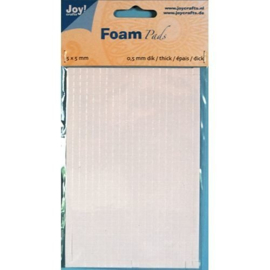 Foam Pads 0,5 mm/5mm.blok WIT