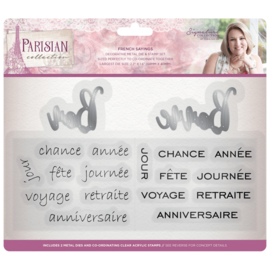 Sara Signature Collection Parisian - Clearstamp & snijmal set - French Sayings