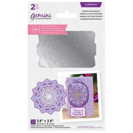 Gemini - Dubbelzijdige snijmal - Snowflake Mandala