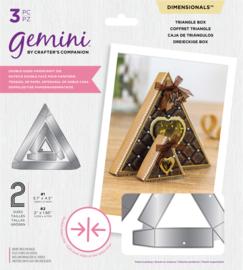Gemini Dimensions - Dubbelzijdige snijmal - Driehoekige doos