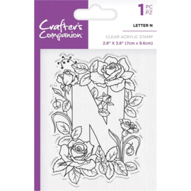 Crafter's Companion Clear stempel alfabet letter N