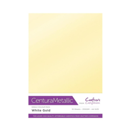Crafter's Companion Centura Metallic White gold