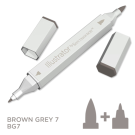 Spectrum Noir Illustrator losse pennen - Brown Grey (Bruingrijs BG7)