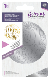 Gemini Folie Stempel mal - Expressions - Merry and Bright