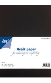 Kraft Papier A4 zwart