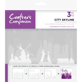 Crafter's Companion - 3D Layering Stencil Skyline