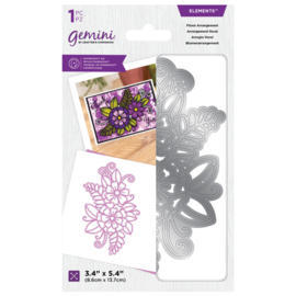 Gemini Layered Engraving Elements snijmal - Floral Arrangement