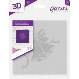 Gemini 15x15 cm 3D-embossingfolder -Holly Bells