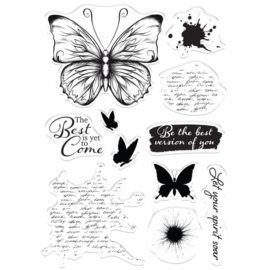 Crafter's Companion Collage Clearstamps -  Let Your Spirit Soar