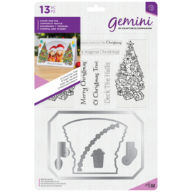 Gemini Photo Card Clearstamp & Snijmal - O'Christmas Tree