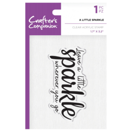 Crafter's Companion Clear stempel - A little sparkle