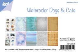 Papierset - Bille - Design Aquarell Dogs & Cats