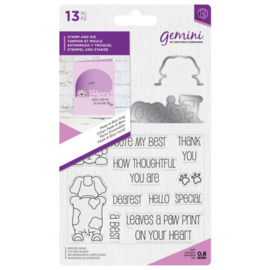 Gemini Peek-A-Boo Clearstamp & Snijmal - Dog (Hond)