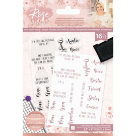 Rose Gold A6 Clearstamp - Interchangeable Sentiments