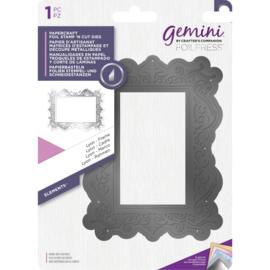 Gemini Foil Stamp 'N' Cut snijmal - Elementen - Lyon Frame