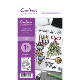 Crafter's Companion A6 unmounted rubberen stempel - Winter Joy