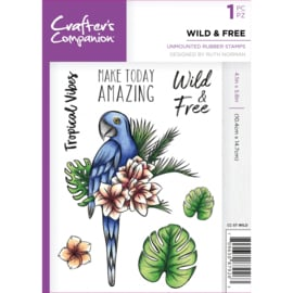 Crafter's Companion A6 unmounted rubberen stempel -Wild & Free