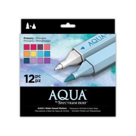 Spectrum Noir Aqua Markers 12 Pen Sets - Primaire
