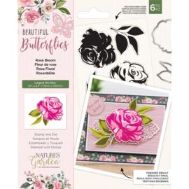 Beautiful Butterflies - Clearstamp&snijmallen set - Rose Bloom