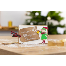 Gemini Clearstamp & snijmallen set - Christmas Elf (Kerstelf)