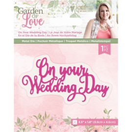 Garden of Love - Metalen snijmal - On Your Wedding Day