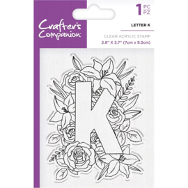 Crafter's Companion Clear stempel alfabet letter K