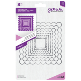 Gemini Elements - Scalloped Edge Square (Geschulpte rand vierkant)