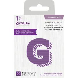 Gemini Expressions snijmal - Shadow Alphabet G