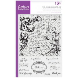 Crafter's Companion Grote Background Clearstamps - Script Collage