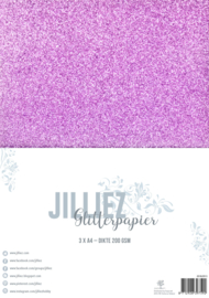 Jilliez A4 Glitterpapier Roze