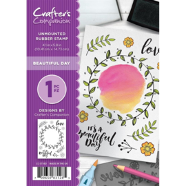 Crafter's Companion A6 unmounted rubberen stempel - Beautifull Day