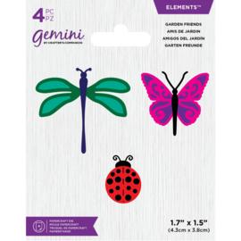 Gemini Elements snijmal - Garden Friends (Tuin Vrienden)