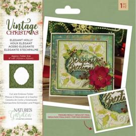 Vintage Christmas Cut&Emboss folder - Elegant Holly