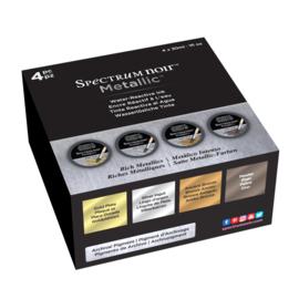 Spectrum Noir Metallic Vloeibare Inkt 30ml - Rich Metallics (Rijke metallics) 4 stuks