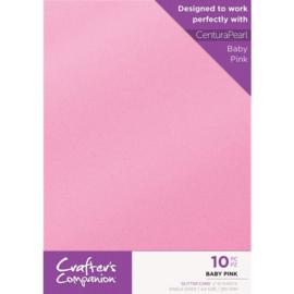 Crafter's Companion Glitter karton A4 a 10 vel - Baby Roze